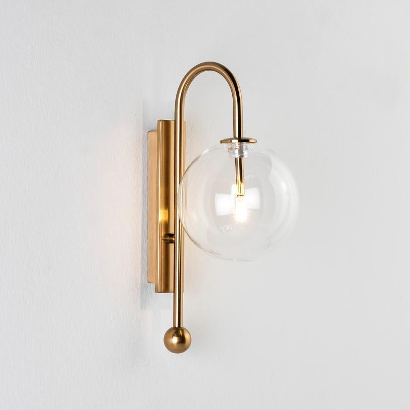 Wall Lamp 15X21X37 Glass Metal Golden