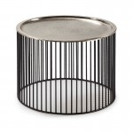 Auxiliary Table 56X56X42 Iron Black Silver