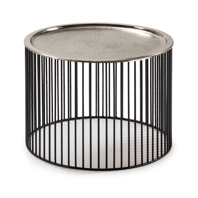 Auxiliary Table 56X56X42 Iron Black Silver - image 53294