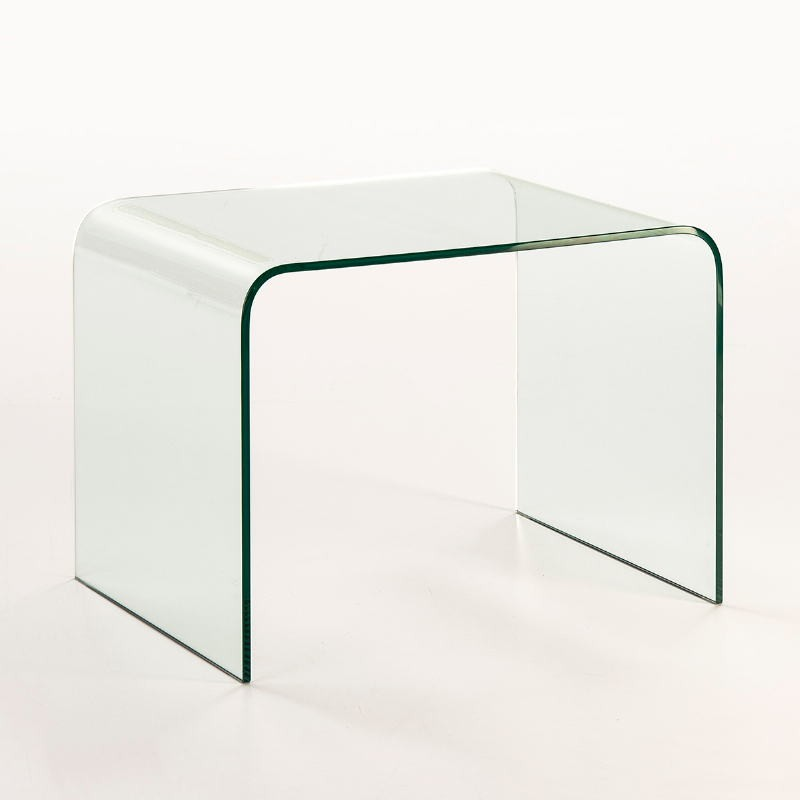 Mesa Auxiliar 60X45X45 Cristal Transparente