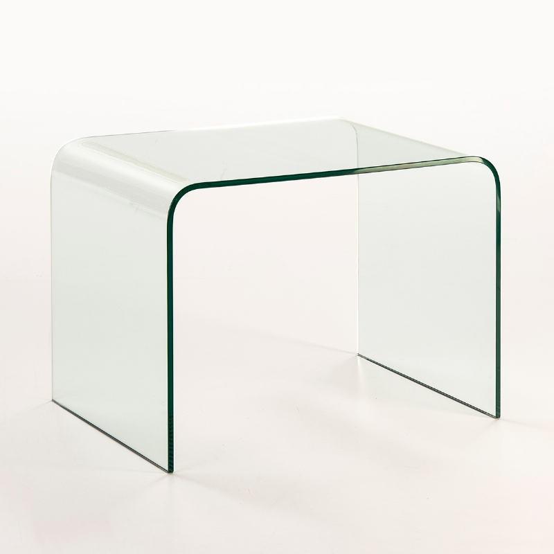 Table d'appoint, bout de canapé 60x45x45 Verre Transparent - image 53299