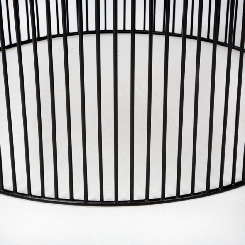 Table basse 80x80x42 Fer Noir Doré - image 53307