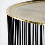 Coffee Table 80X80X42 Iron Black Golden
