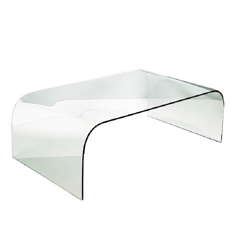 Table basse 130x75x42 Verre Transparent