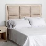 Headboard 162X9X137 Wood Rattan White Veiled