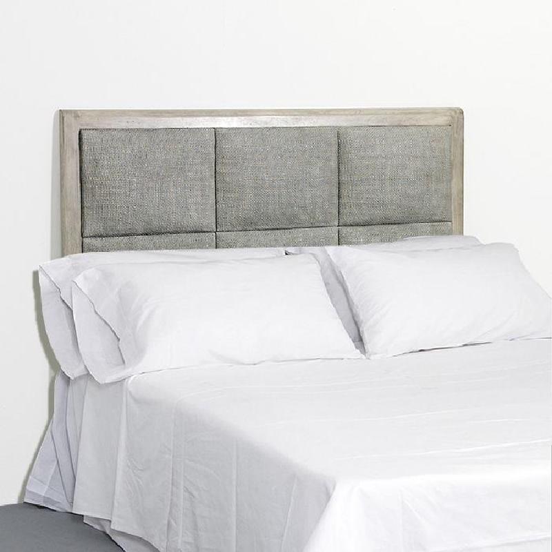 Headboard 162X9X137 Rattan Wood Grey Veiled