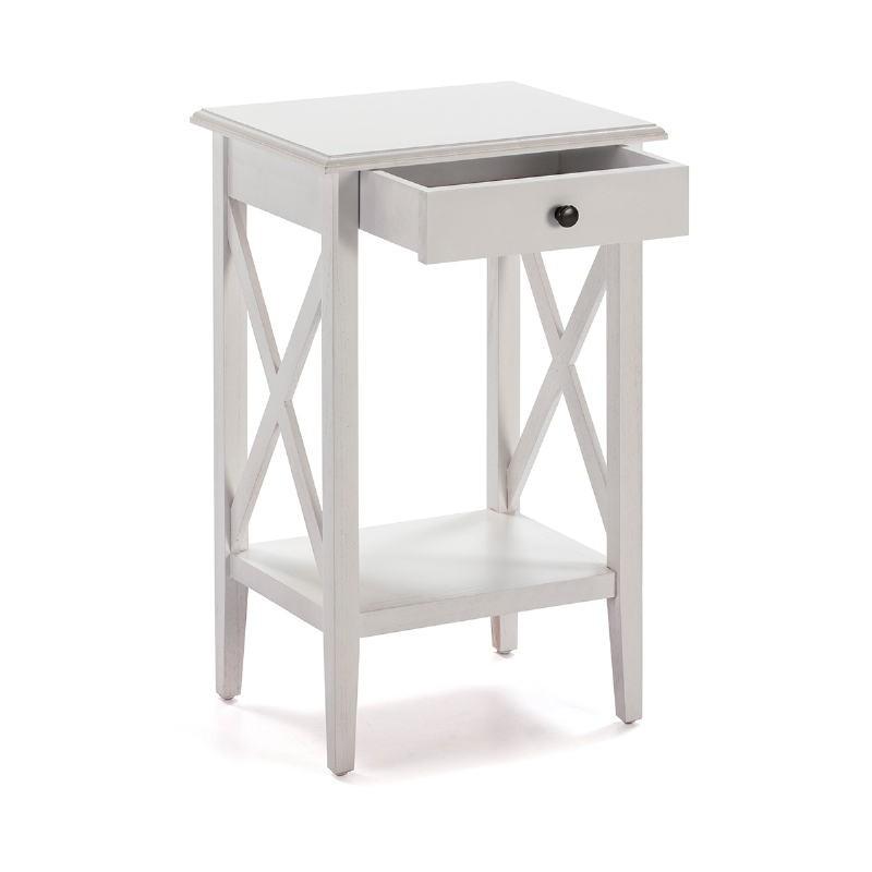 Table de chevet 42x35x70 Bois Blanc - image 53335