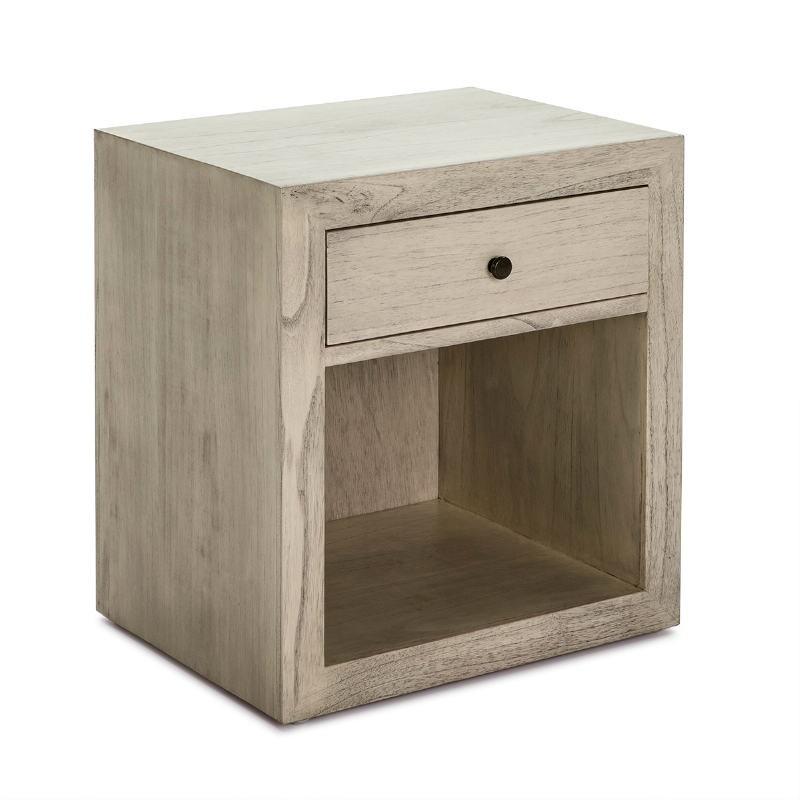 Nachttisch 50X40X55 Gebleichtes Graues Holz Modell 2