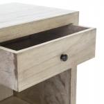 Table de chevet 50x40x55 Bois Gris blanchi Modèle 2
