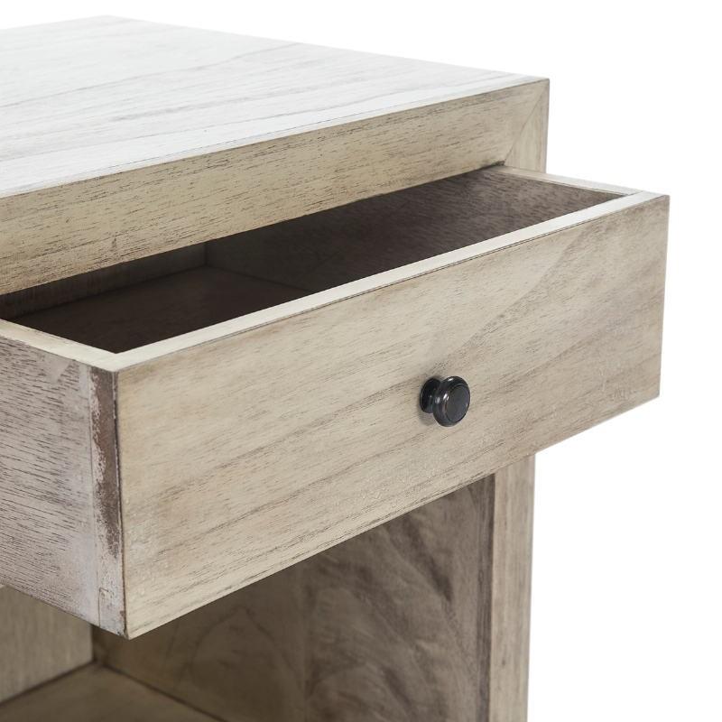 Nachttisch 50X40X55 Gebleichtes Graues Holz Modell 2 - image 53344