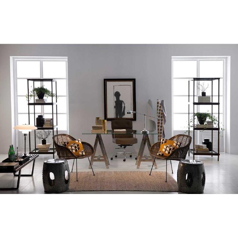 Lampe de Table avec abat-jour 74x18x55 Métal Chrome - image 53356