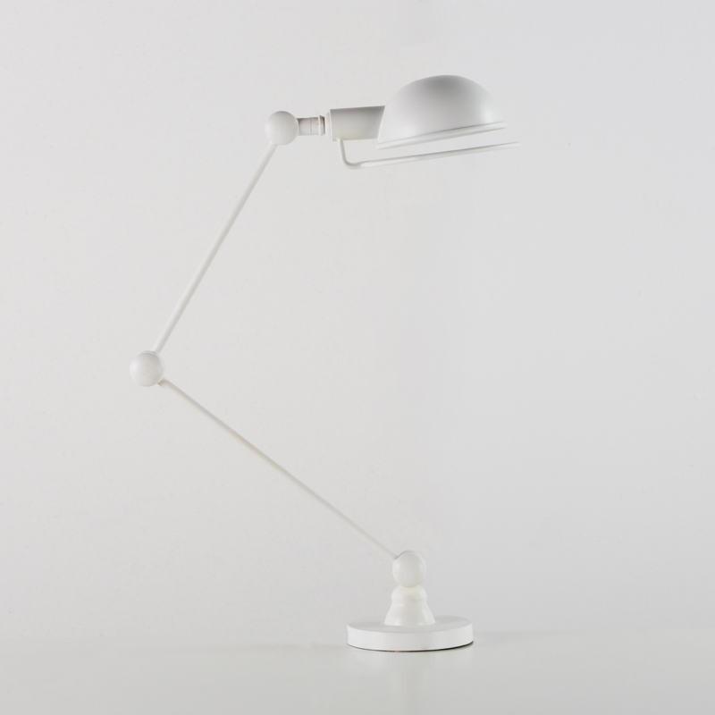 Lampe de Table avec abat-jour 50x13x50 Métal Blanc