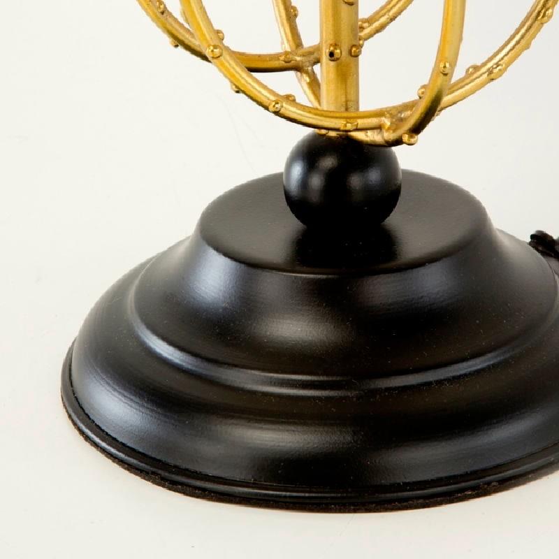 Lampe Auf Tisch Ohne Bildschirm 17X50 Metall Schwarz/Golden - image 53361