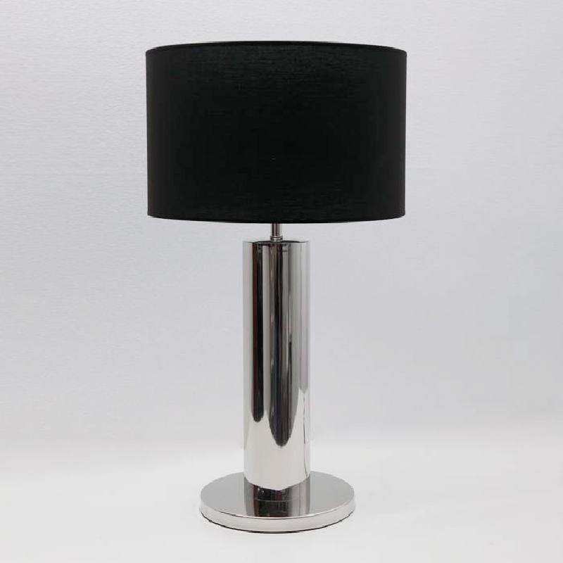 Lampe de Table sans Abat-jour 25x49 Métal Chrome