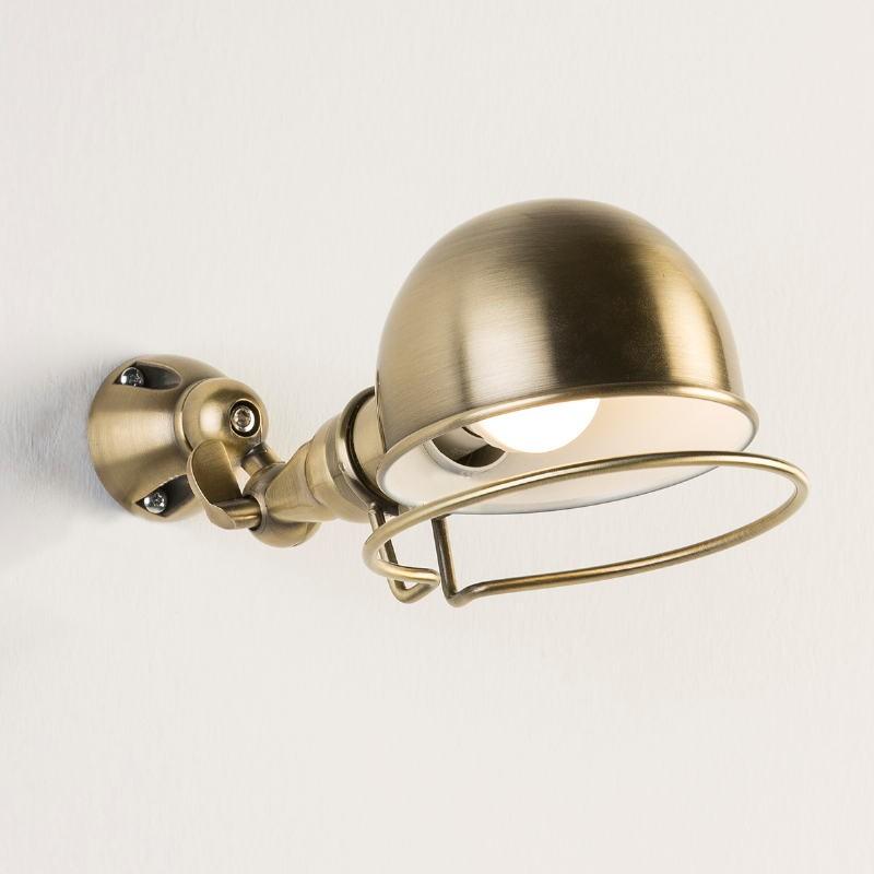 Wandleuchte 14X30X14 Metallfarbe Bronze Weiß