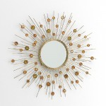Mirror 98X5X98 Metal Nacre
