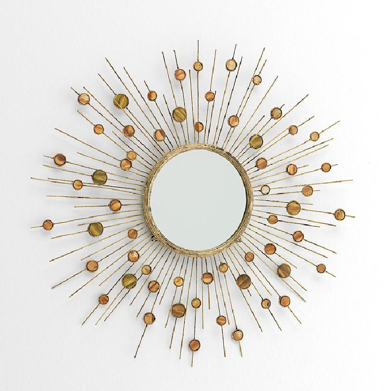 Miroir 98x5x98 Métal Nacre - image 53373