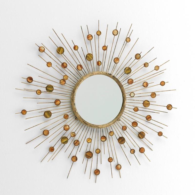 Miroir 98x5x98 Métal Nacre - image 53374