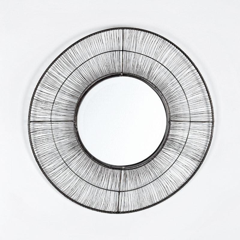 Miroir 61x2x61 Métal Doré Vieilli