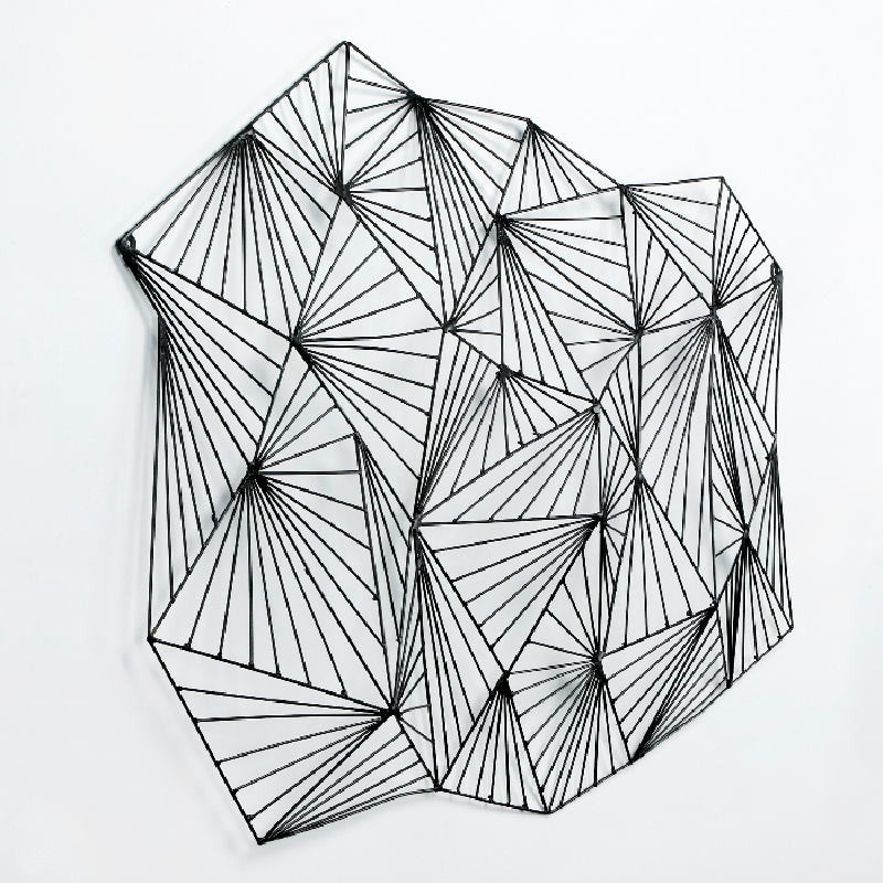 Sculpture 116X9X75 Metal Black - image 53392