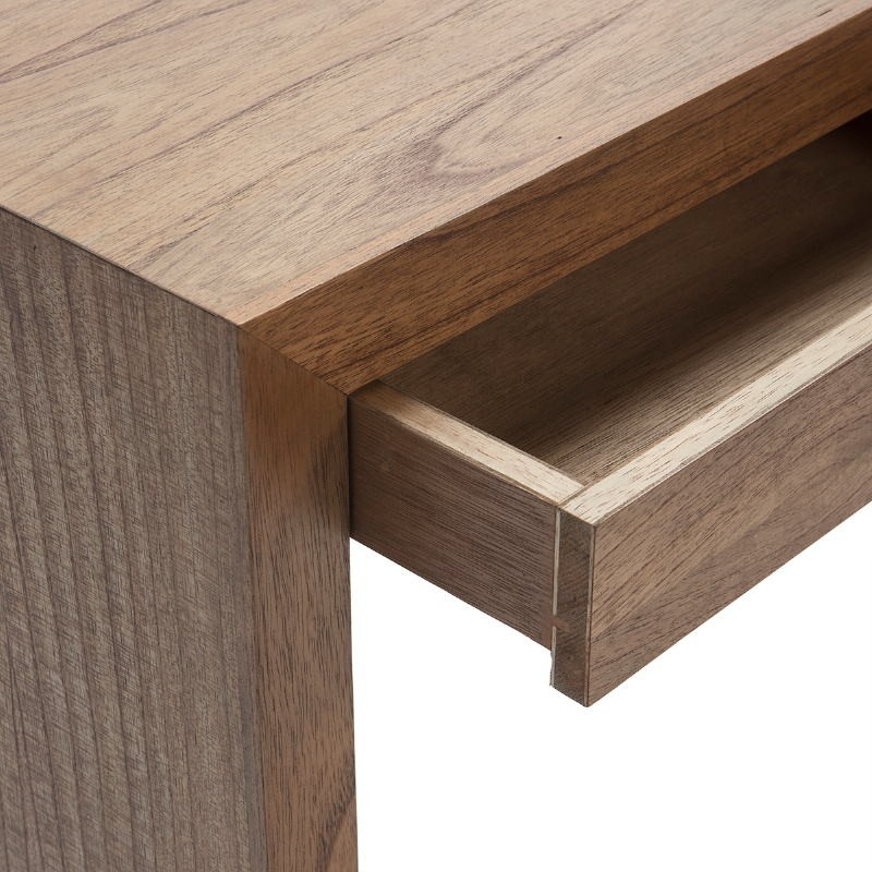 Console 3 Drawers 140X30X75 Wood Natural Veiled - image 53398