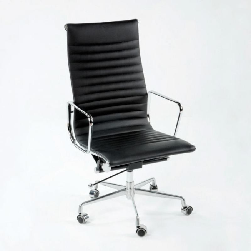 Chaise de Bureau Réglable 58x64x107 115 Métal Cuir Noir - image 53413