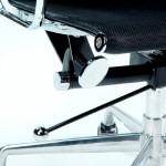 Office Adjustable Chair 58X64X89 97 Metal Mesh Black