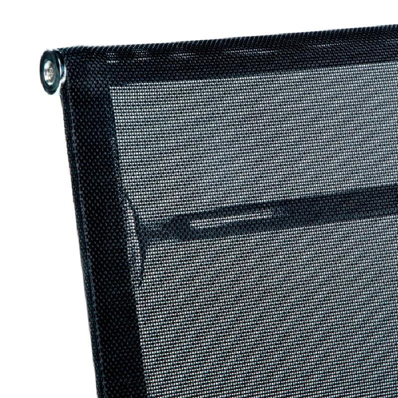 Office Adjustable Chair 58X64X89 97 Metal Mesh Black - image 53424