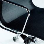 Chaise de Bureau Réglable 64x62x107 113 Métal Maille Noir
