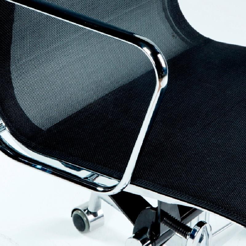 Chaise de Bureau Réglable 64x62x107 113 Métal Maille Noir - image 53427