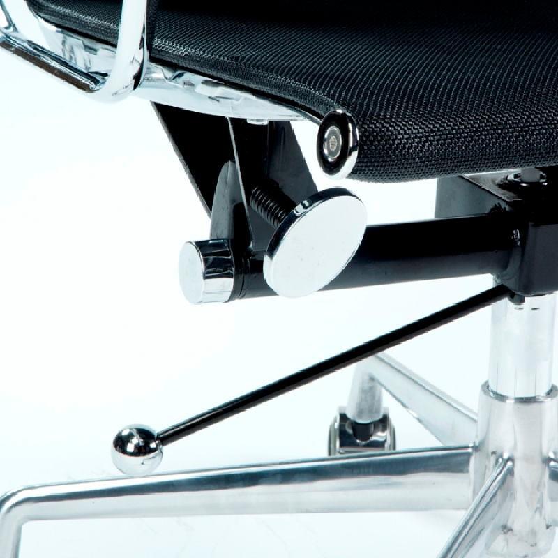 Chaise de Bureau Réglable 64x62x107 113 Métal Maille Noir - image 53428