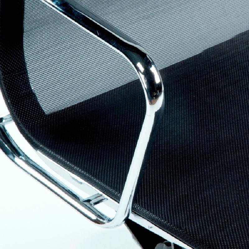 Chaise de Bureau Réglable 64x62x107 113 Métal Maille Noir - image 53429