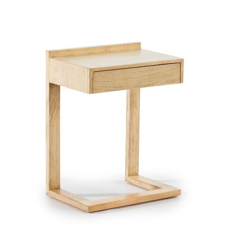 Nachttisch 50X35X66 Holz Weiß Verschleiert - image 53435