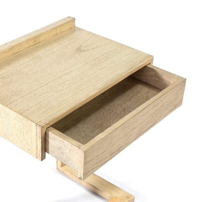 Nachttisch 50X35X66 Holz Weiß Verschleiert - image 53436