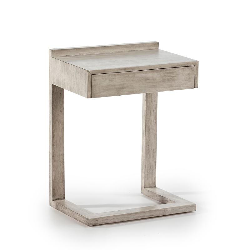 Table de chevet 50x35x66 Bois Gris blanchi - image 53439
