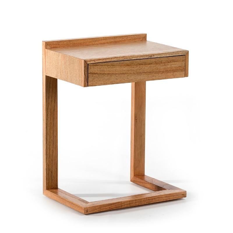 Nachttisch 50X35X66 Holz Natürlich Verschleiert - image 53443