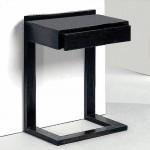 Table de chevet 50x35x66 Bois Noir