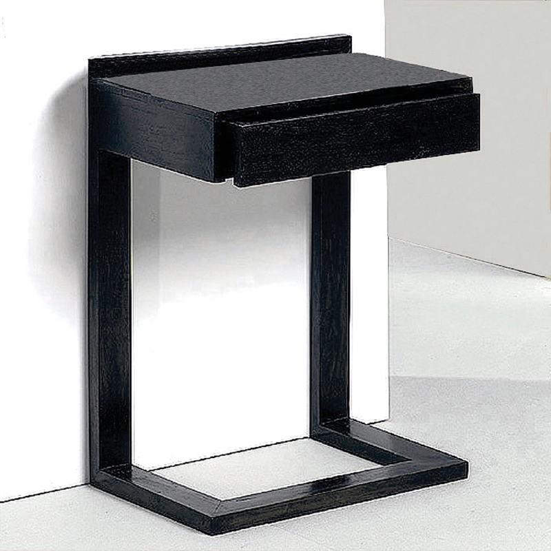 Bedside Table 50X35X66 Wood Black