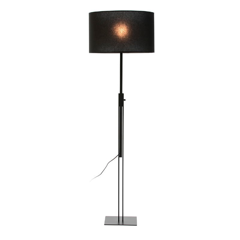 Lámpara De Pie Sin Pantalla 25X25X100 200 Metal Negro