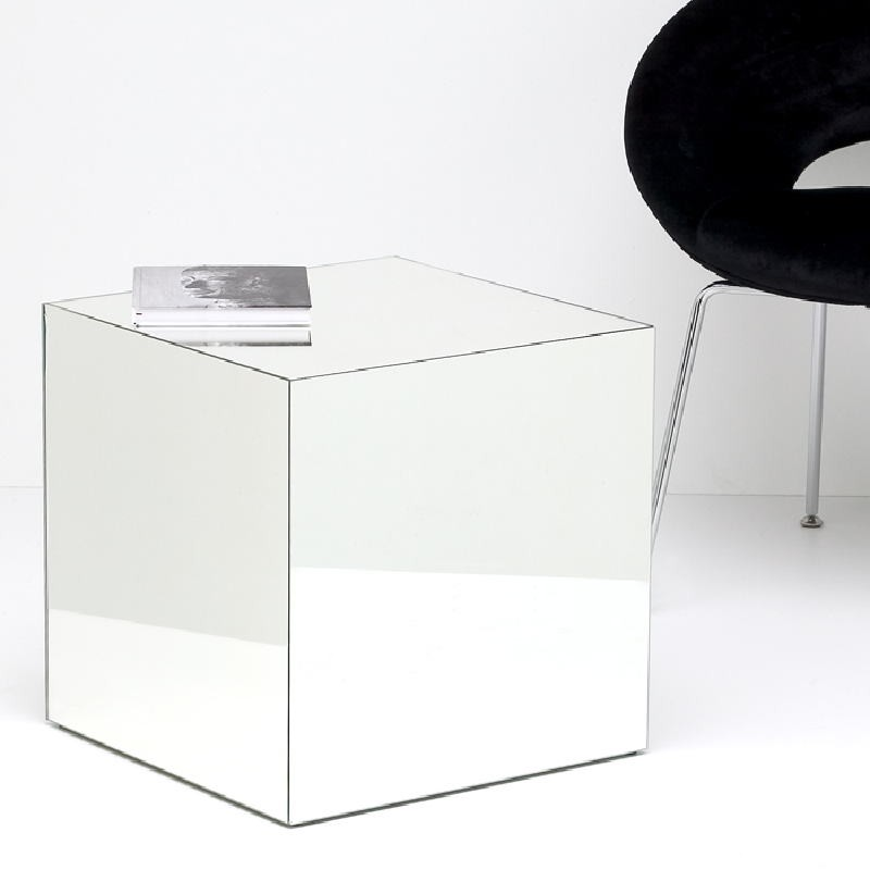 Table d'appoint, bout de canapé 45x45x45 Miroir