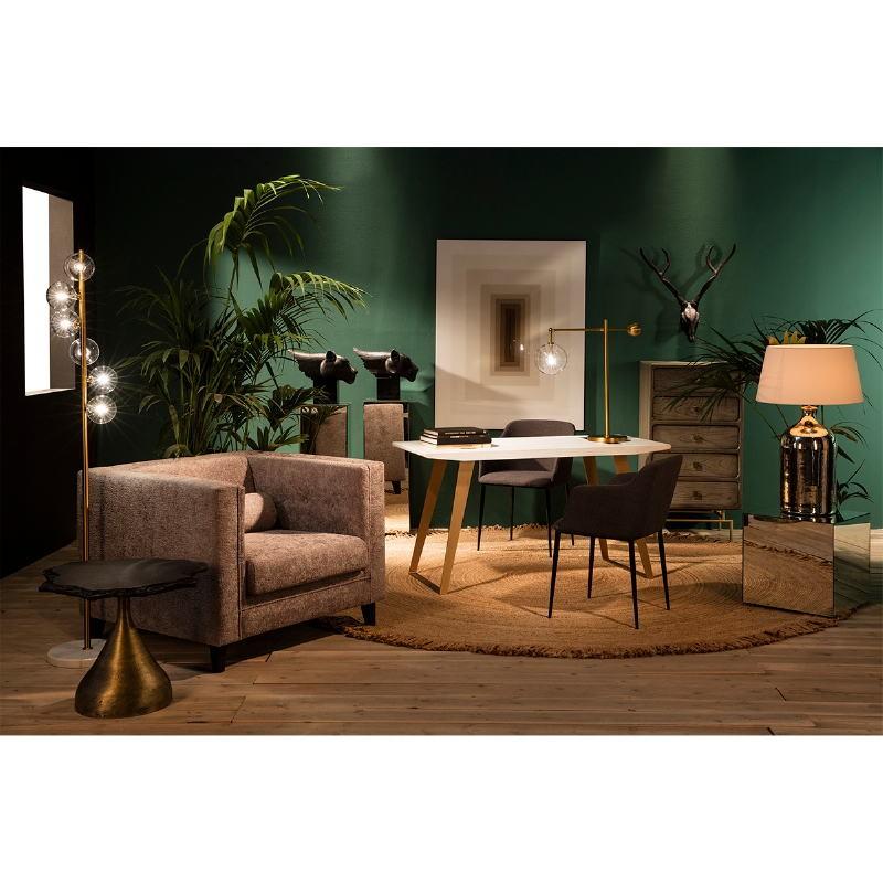 Table d'appoint, bout de canapé 45x45x45 Miroir - image 53470