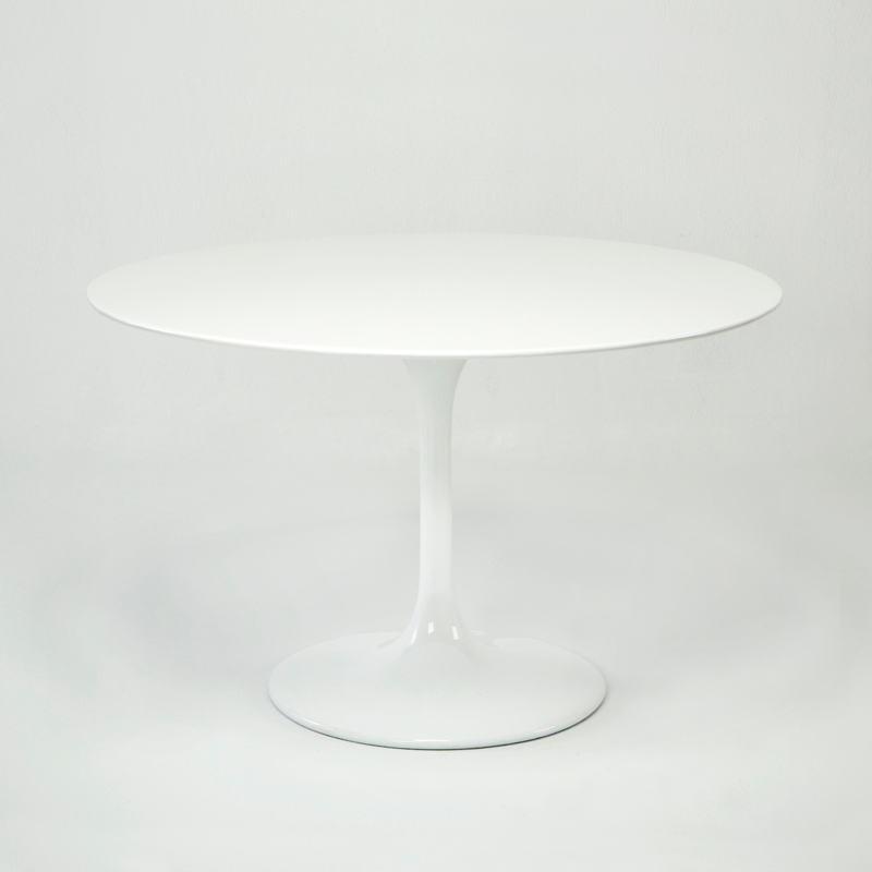 Esstisch 120X120X75 Fiberglas Weiß