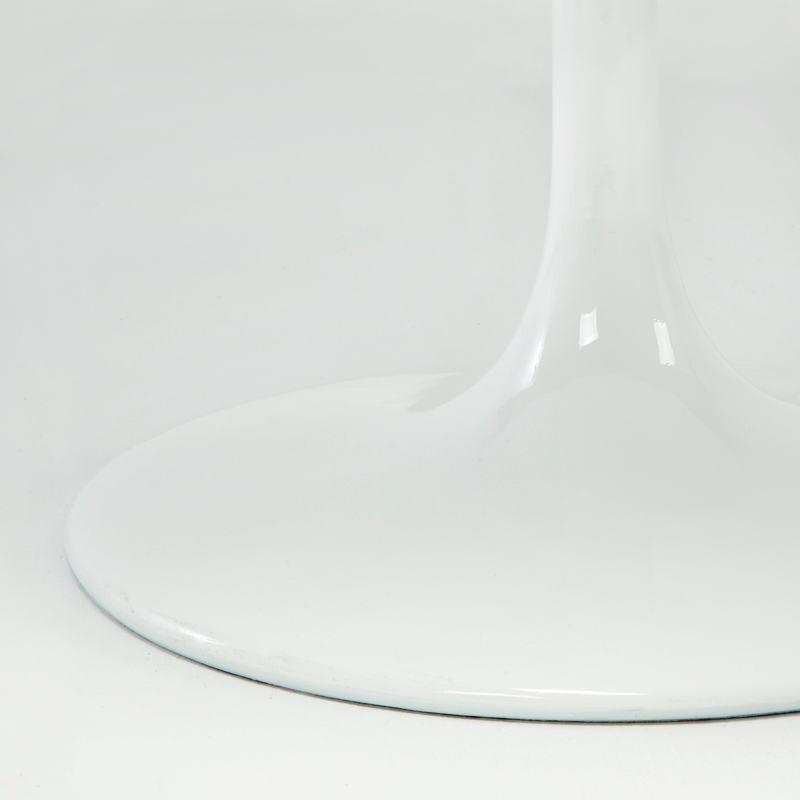 Table à Manger 120x120x75 Fibre de verre Blanc - image 53482