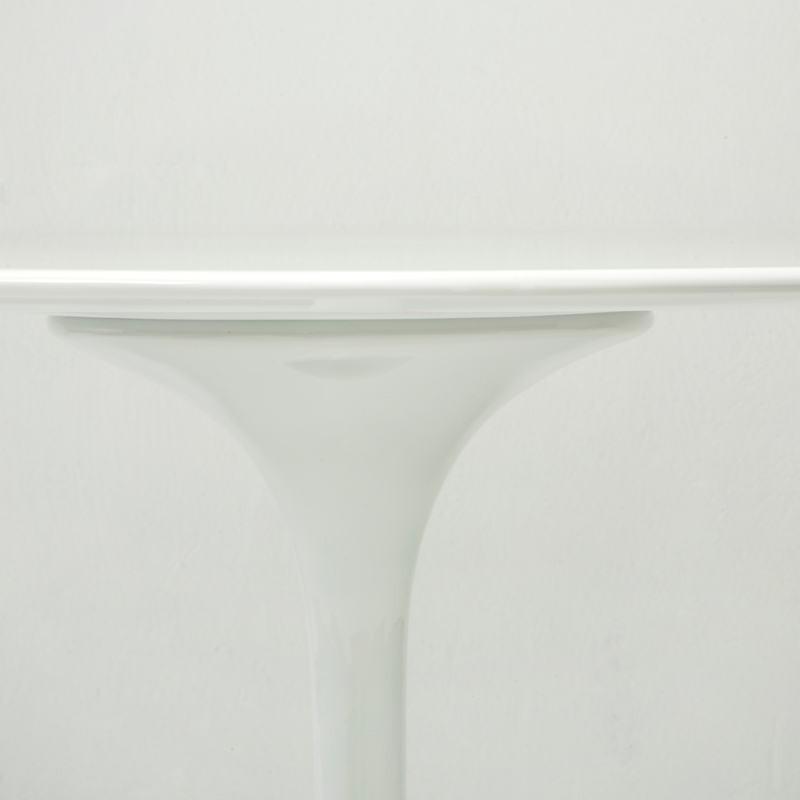 Table à Manger 120x120x75 Fibre de verre Blanc - image 53483