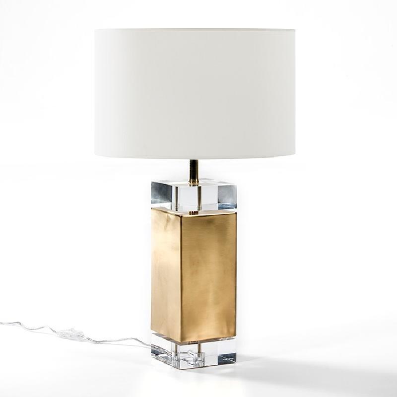 Lampe Auf Tisch Ohne Bildschirm 13X13X50 Acryl/Metall Golden - image 53516