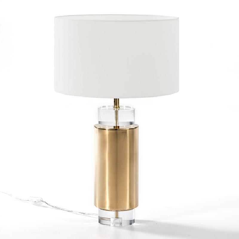 Table Lamp Without Lampshade 14X53 Acrylic Metal Golden - image 53519