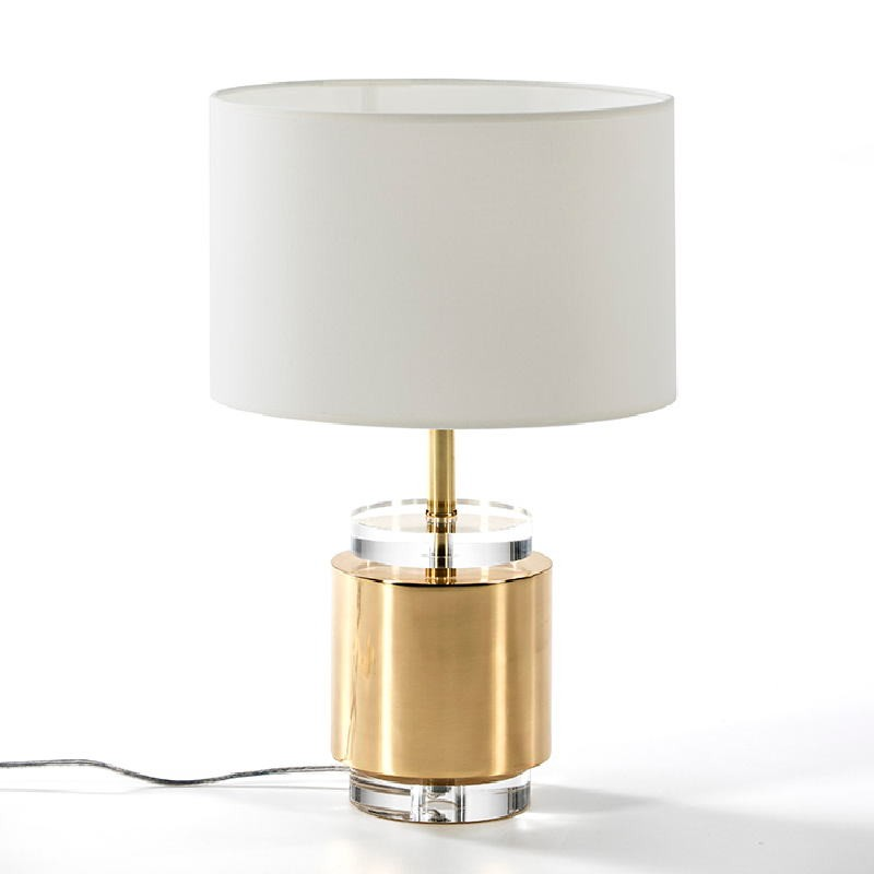 Table Lamp Without Lampshade 14X33 Acrylic Metal Golden - image 53522