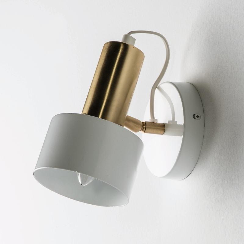 Wall Lamp 12X16X19 Metal White Golden - image 53534