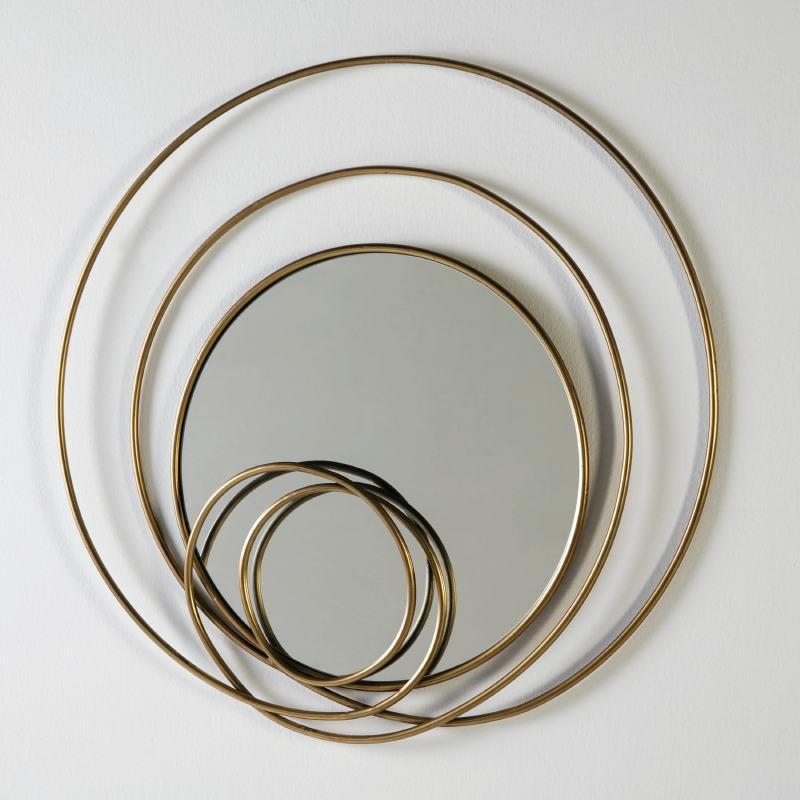 Mirror 80X7X80 Glass Metal Golden - image 53548
