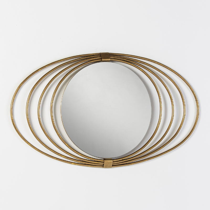 Mirror 91X3X53 Glass Metal Golden - image 53566